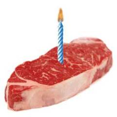 birthday candle steak